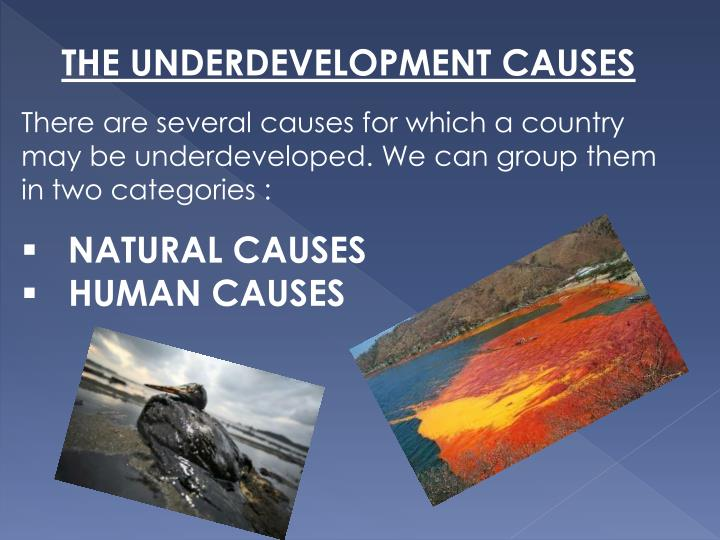 THE UNDERDEVELOPMENT CAUSES