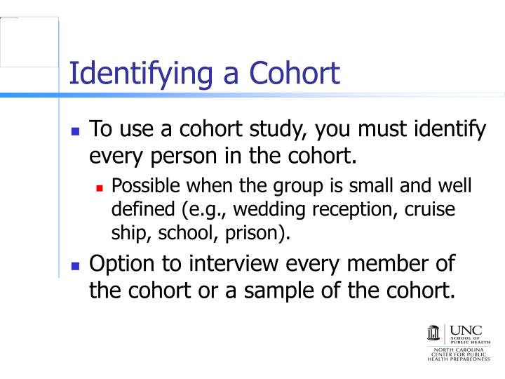 Identifying a Cohort