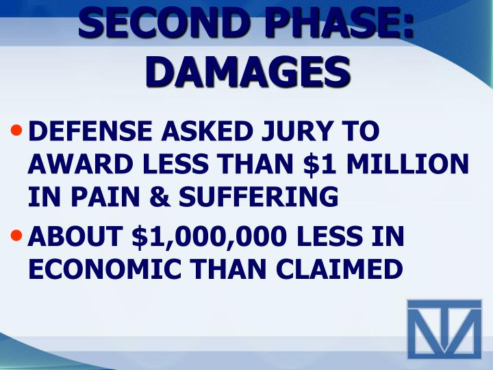 SECOND PHASE:  DAMAGES