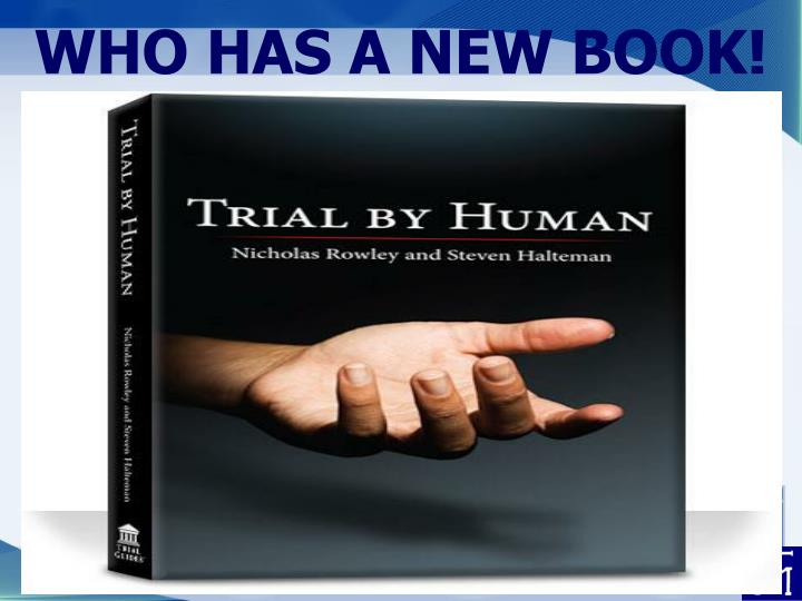 WHO HAS A NEW BOOK!