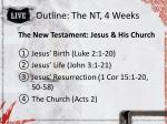 outline the nt 4 weeks