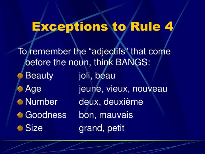 Exceptions to Rule 4