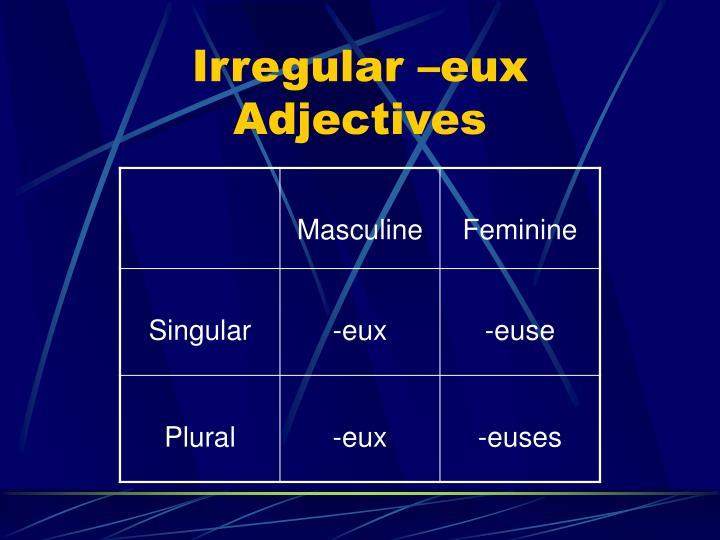 Irregular –eux Adjectives