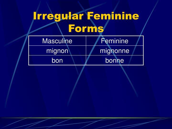 Irregular Feminine Forms