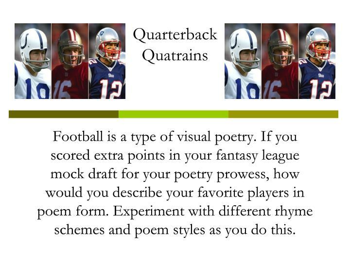 Quarterback quatrains1