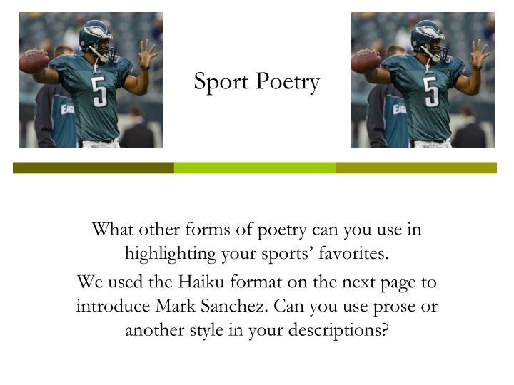 Sport Poetry