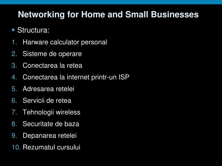 Networking for Home and Small Businesses