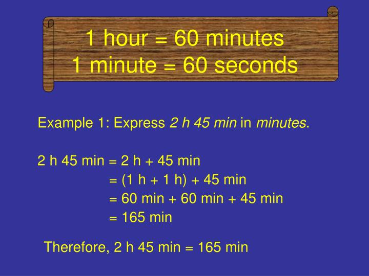 1 hour 60 minutes 1 minute 60 seconds