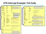 atd interrupt example full code