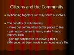 citizens and the community11