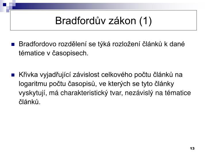 Bradfordův zákon (1)