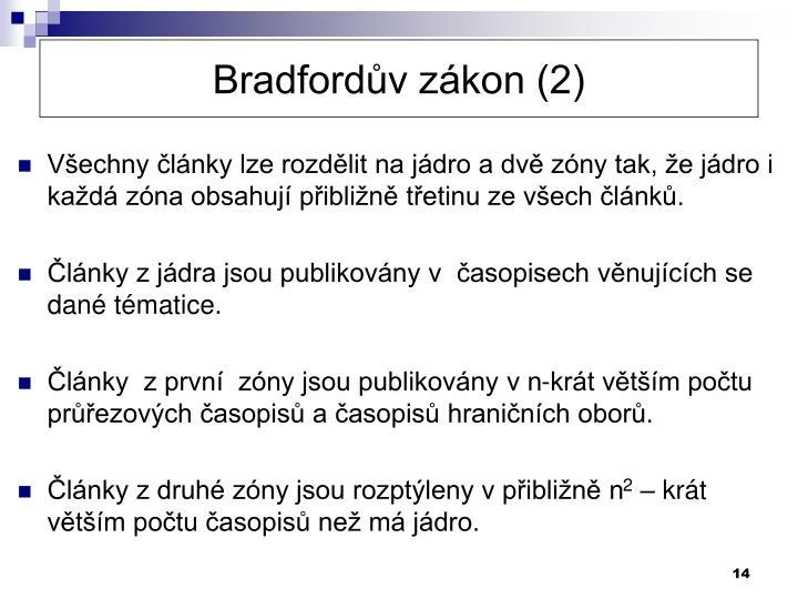 Bradfordův zákon (2)