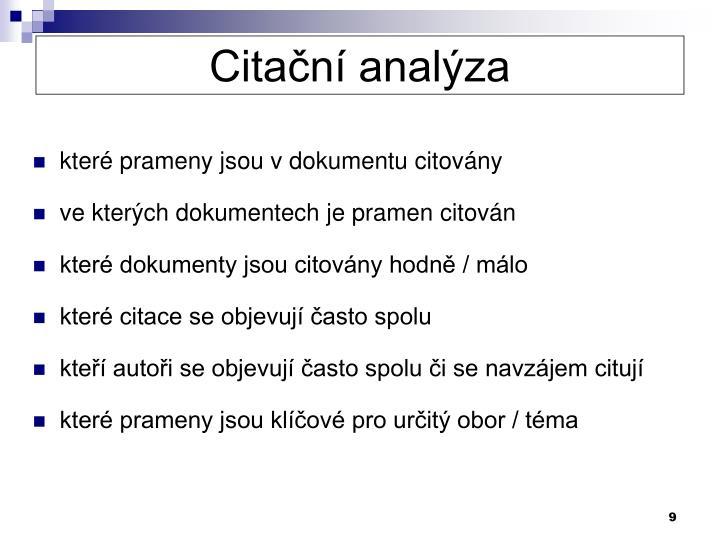 Citační analýza