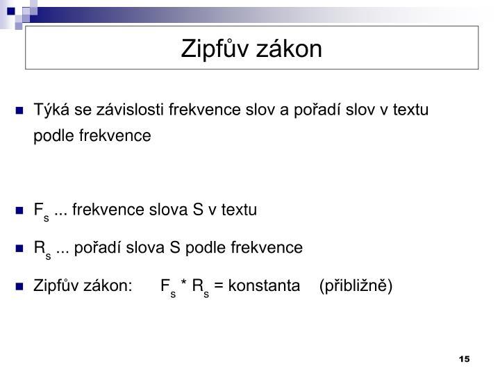 Zipfův zákon