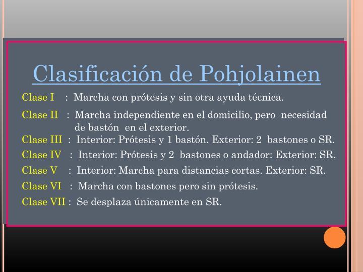 Clasificación de Pohjolainen