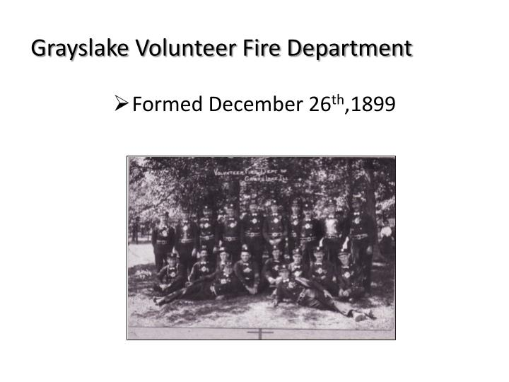 Grayslake volunteer fire department