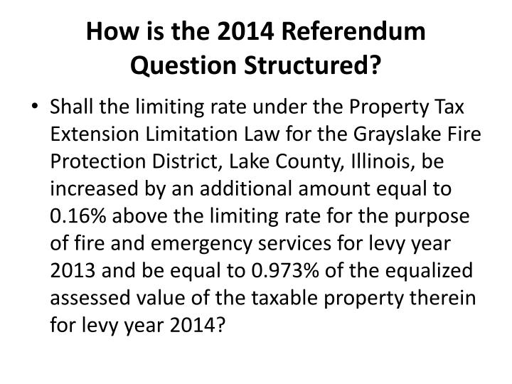 How is the 2014 Referendum Question Structured?
