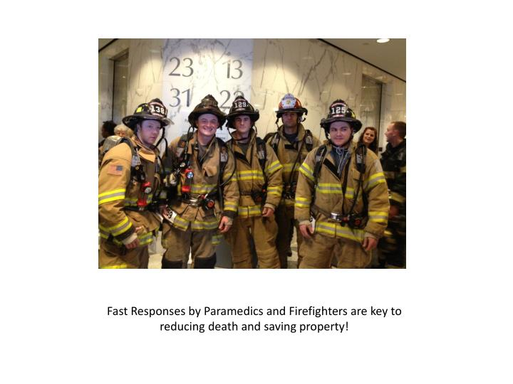Fast Responses by Paramedics and Firefighters are key to reducing death and saving property!