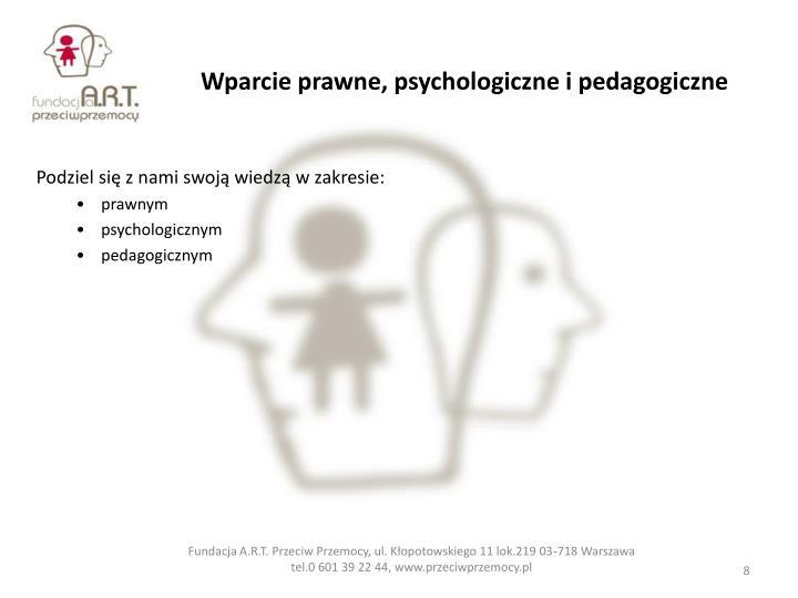 Wparcie prawne, psychologiczne i pedagogiczne