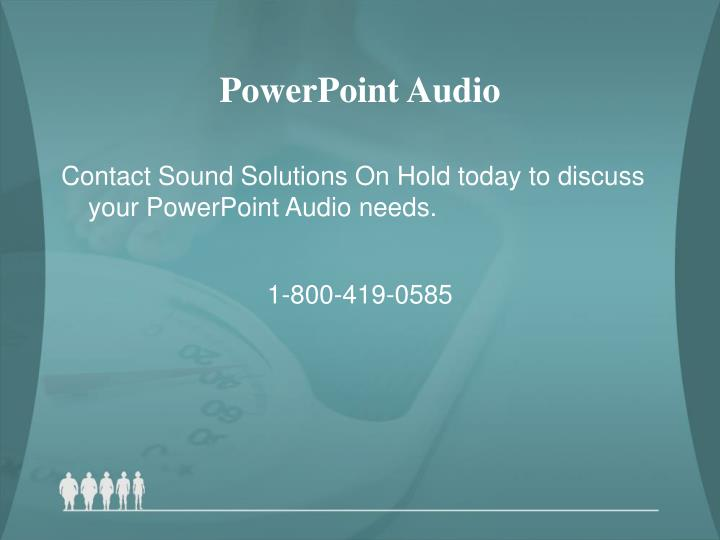 PowerPoint Audio