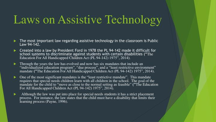 Laws on assistive technology