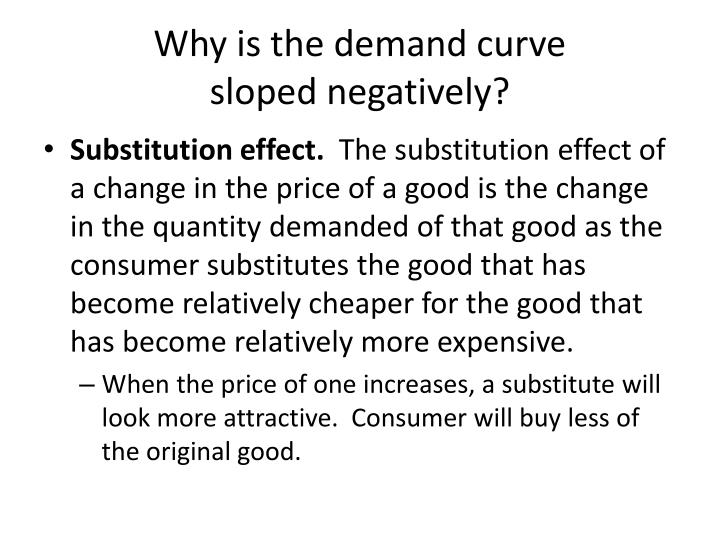 Why is the demand curve sloped negatively