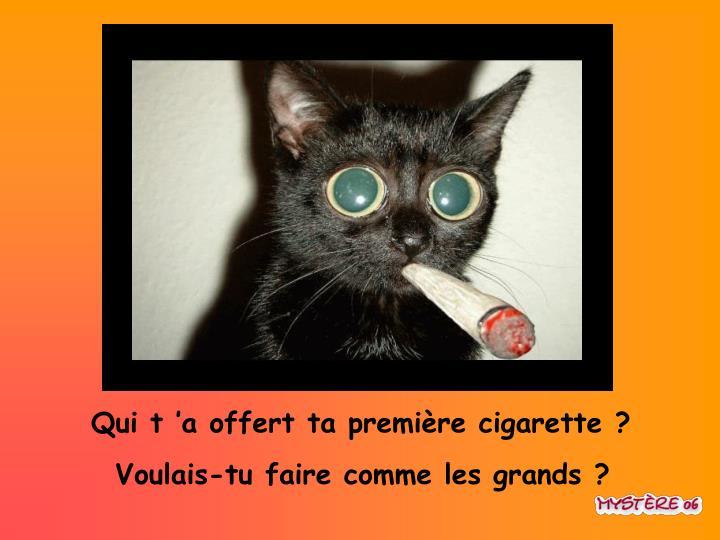 Qui t'a offert ta première cigarette ?