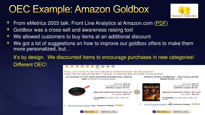 OEC Example: Amazon