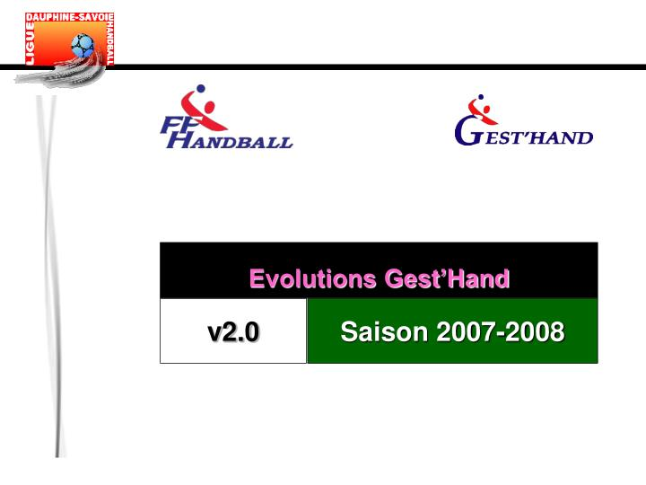 Evolutions Gest'Hand