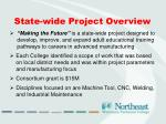 state wide project overview