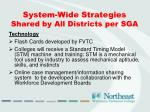 system wide strategies shared by all districts per sga1