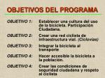 objetivos del programa