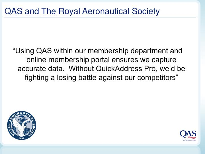 Qas and the royal aeronautical society