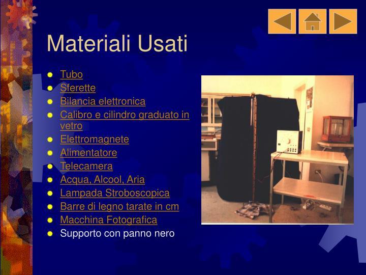 Materiali Usati