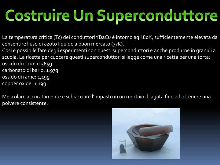 Costruire Un Superconduttore