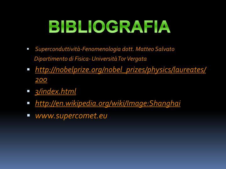 Superconduttività-Fenomenologia dott. Matteo Salvato