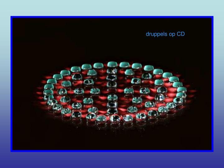druppels op CD