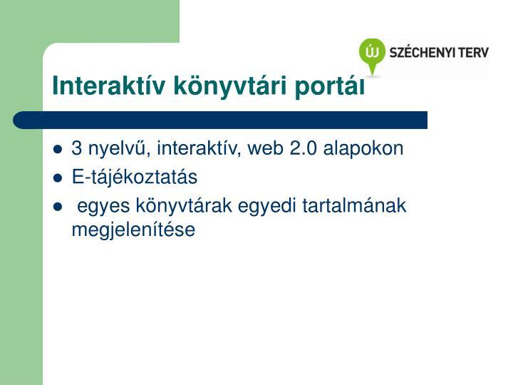 Interaktív könyvtári portál