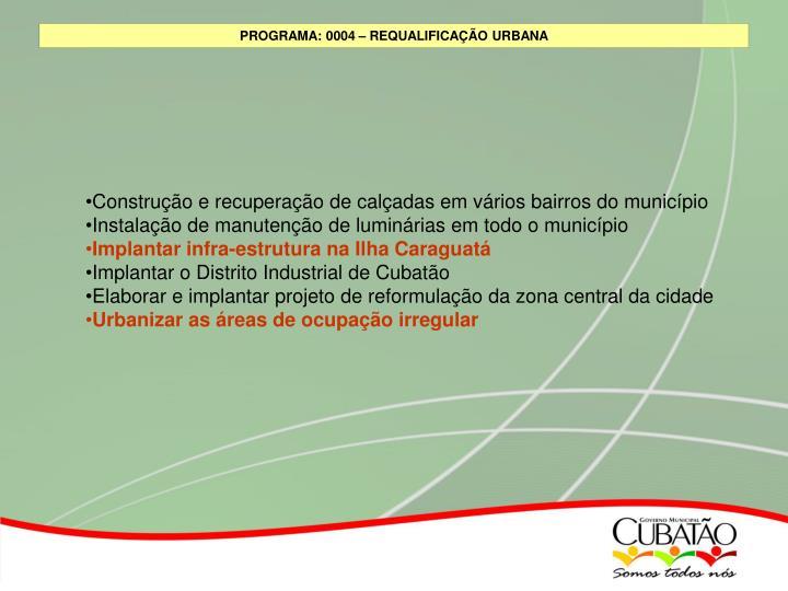 Construção e recuperação de calçadas em vários bairros do município
