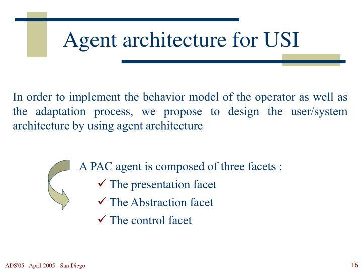 Agent architecture for USI