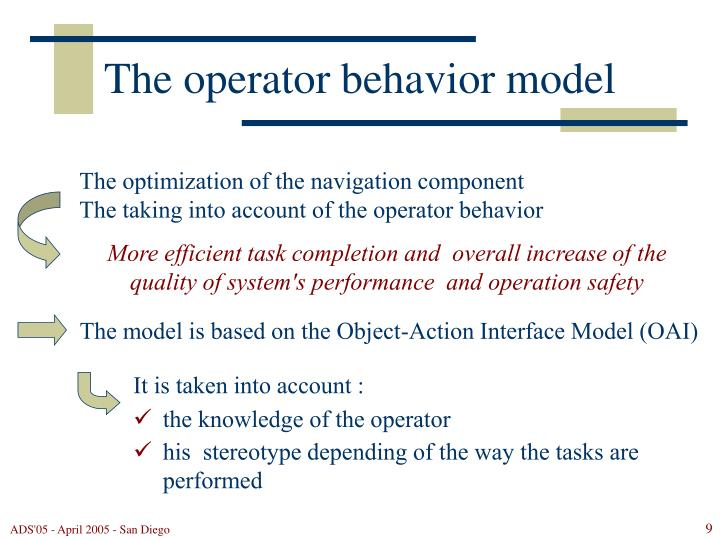 The optimization of the navigation component