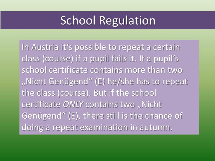 School Regulation