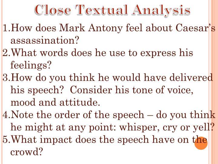 Close Textual Analysis