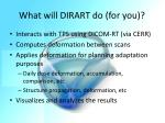 what will dirart do for you