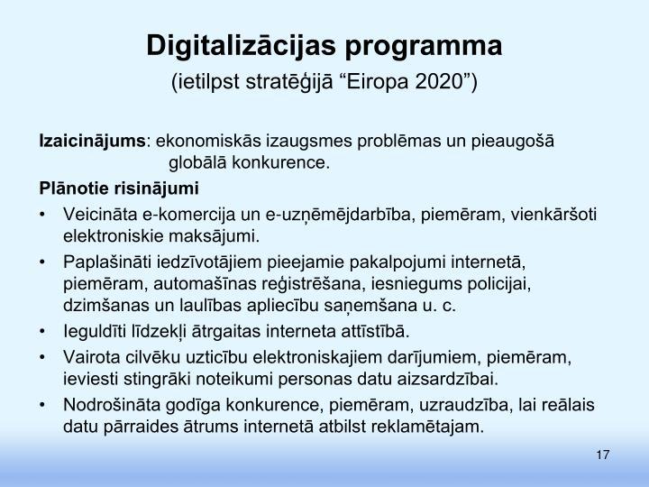 Digitalizācijas programma