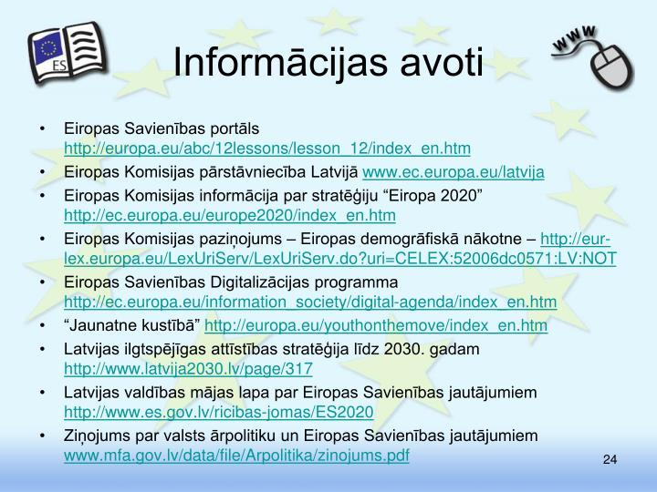 Informācijas avoti