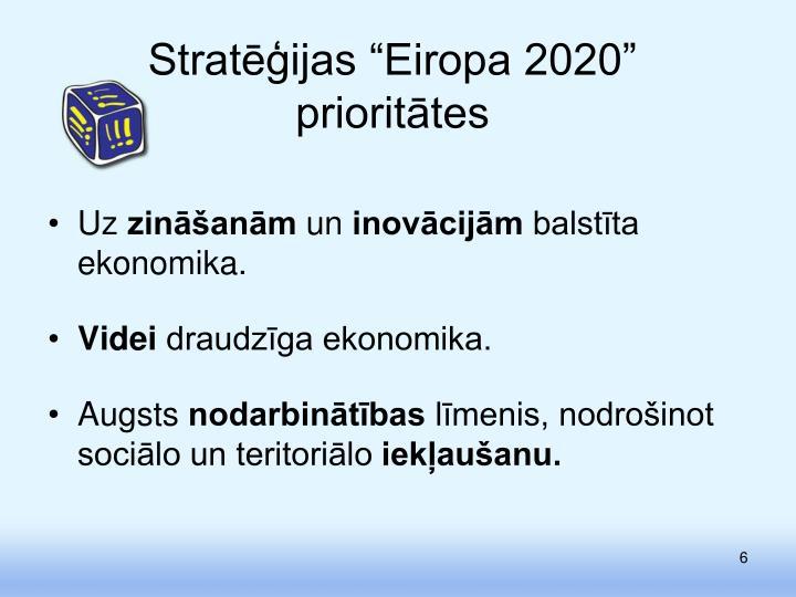 """Stratēģijas """"Eiropa 2020"""""""