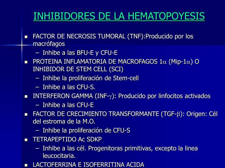 INHIBIDORES DE LA HEMATOPOYESIS