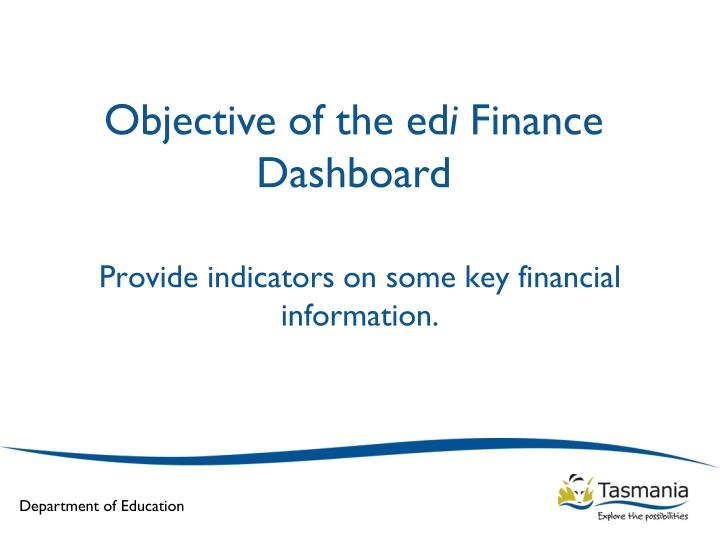 Objective of the ed
