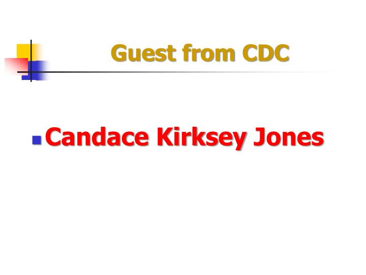 Guest from cdc